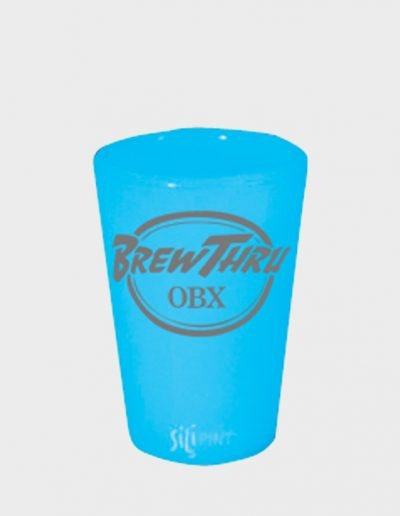 Silicone Pint Glass - Bend Blue