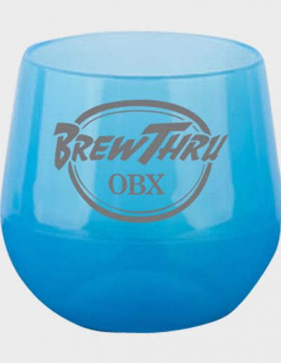 Silicone Wine Glass - Bend Blue